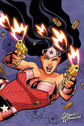 Wonder Woman 2 Guns Comic Poster