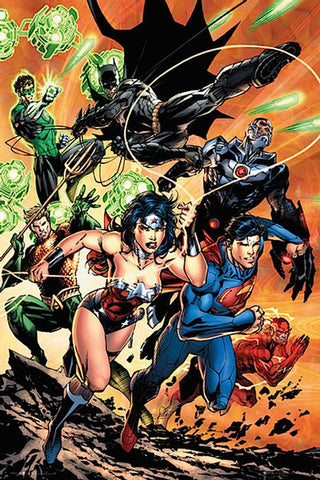 Justice League Charge Comic Poster