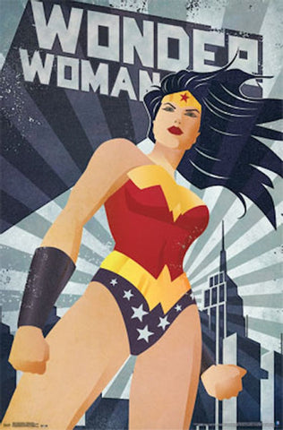 Wonder Woman Constructivism Comic Poster