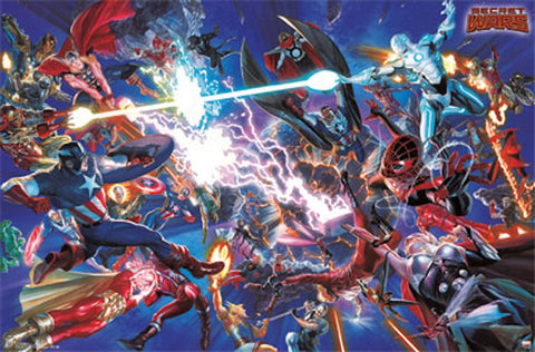 Marvel Secret Wars Comic Poster