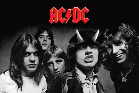 AC/DC Highway To Hell Black and White Poster