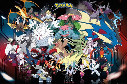 Pokemon Mega Gaming Poster