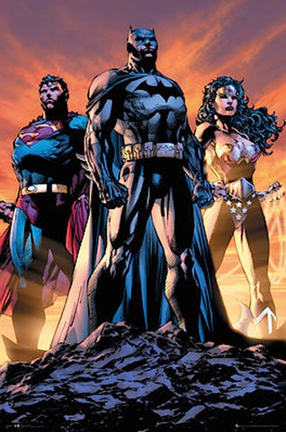 Justice League Trio Comic Poster