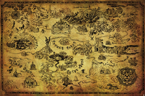 Zelda Map Gaming Poster