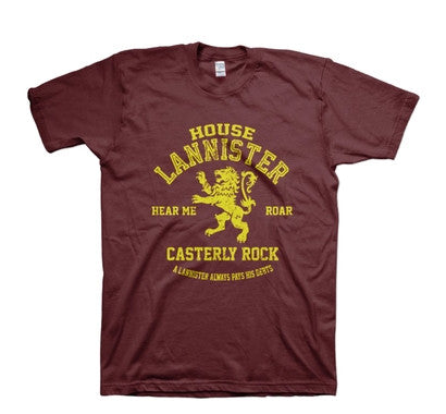 A Song of Ice and Fire Game of Thrones House Lannister TShirt