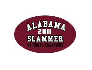 Alabama Slammer 2011 National Champions Decal Sticker