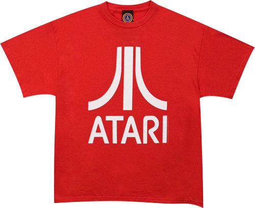 Atari Logo Tshirt: Red With White Print - TshirtNow.net - 1