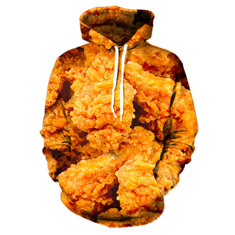 Fried Chicken Allover 3D Print Hoodie