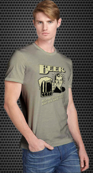 Beer: Helping Ugly People Have Sex Since 1862 Retro Spoof tshirt - TshirtNow.net - 1