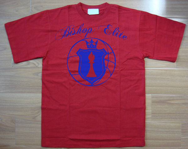 "Bishop Elite ""Logo"" Tshirt: Red With  Blue Print - TshirtNow.net"
