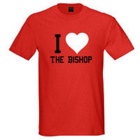 "Bishop Elite ""I Heart The Bishop"" Tshirt: Red With Black and White Print - TshirtNow.net"