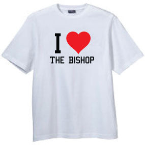 "Bishop Elite ""I Heart The Bishop"" Tshirt: White With Black and Red Print - TshirtNow.net"