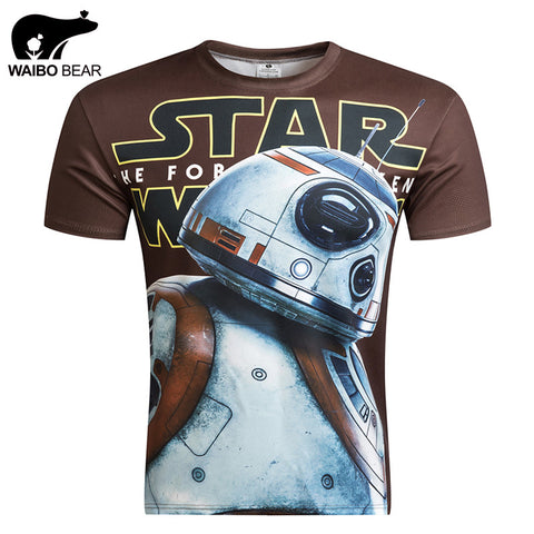 Star Wars Allover 3D Print Performance Tshirts