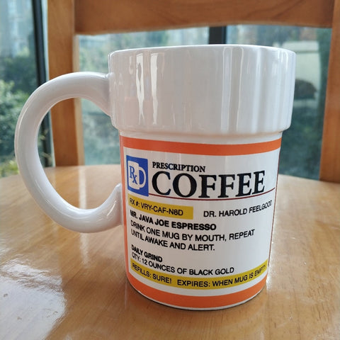 Caffeine Pharmacy Prescription Ceramic Coffee/Tea Mug