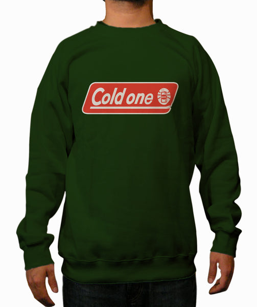 Cold One Dark Green Crewneck Sweatshirt - TshirtNow.net - 1