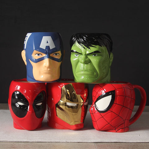 Limited Edition Avenger's Superhero 3D Ceramic Mutipurpose Mugs