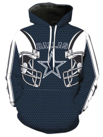 Dallas Cowboys Allover 3D Print Hoodie