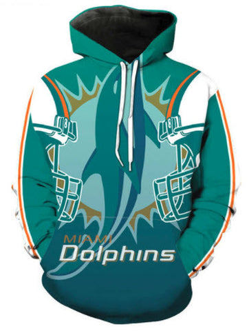 Miami Dolphins Allover 3D Print Hoodie