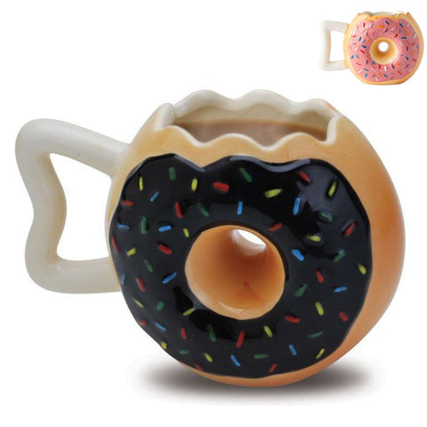 Yummy Handmade Doughnut Ceramic Coffee/Team Mug