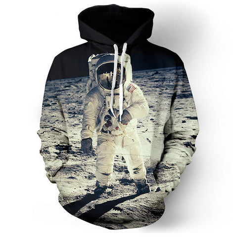 Apollo Lunar Landing Photo Allover 3D Print Hoodie