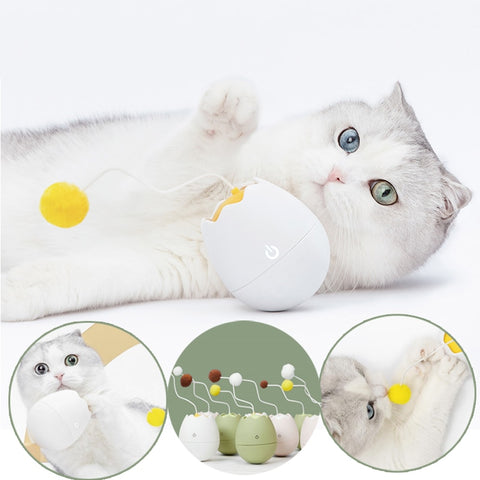 Motion-Sensored Electric Roly-Poly Cat Toy