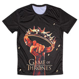 Game Of Thrones Crown Held Aloft Allover 3D Print Tshirt - TshirtNow.net - 3