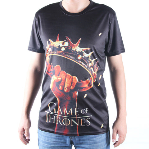 Game Of Thrones Crown Held Aloft Allover 3D Print Tshirt
