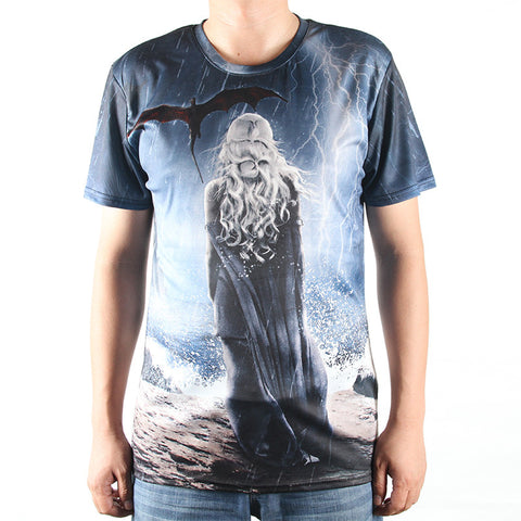 Game Of Thrones Allover 3D Oversize Print Tshirts