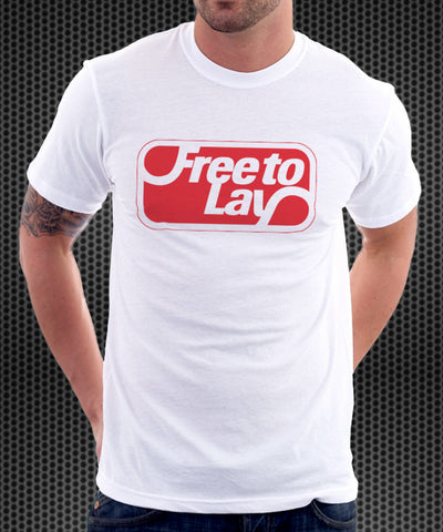 FreeToLay white tshirt