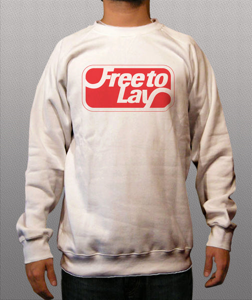 Free to lay White Crewneck Sweatshirt - TshirtNow.net - 1