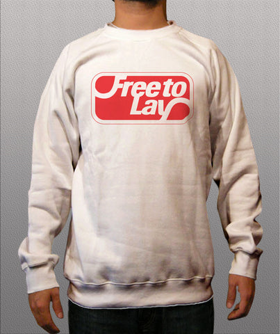 Free to lay White Crewneck Sweatshirt