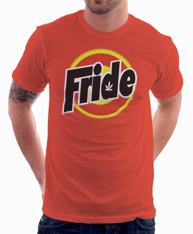 Tide Detergent Logo Parody Spoof Tshirt: Fride Logo Orange Colored Tshirt