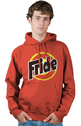 Tide Laundry Detergent Logo Parody Spoof Hoodie: Fride Logo on Orange Colored Hoodie Hoody Sweatshirt