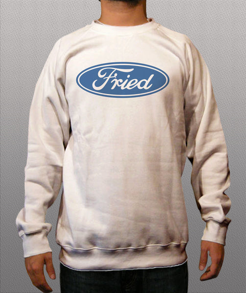 Fried White Crewneck Sweatshirts - TshirtNow.net - 1