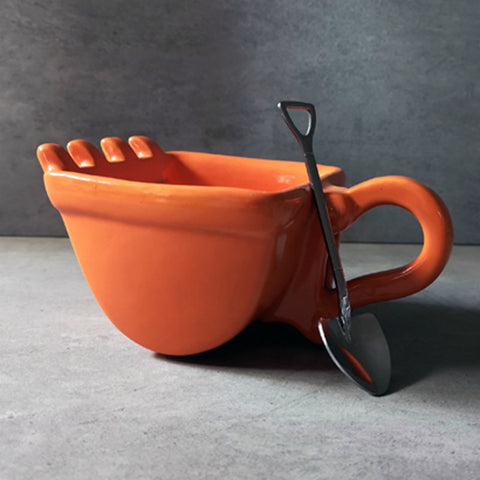 Creative Ceramic Excavator Spoon Bucket Cup Coffee/Tea Mug