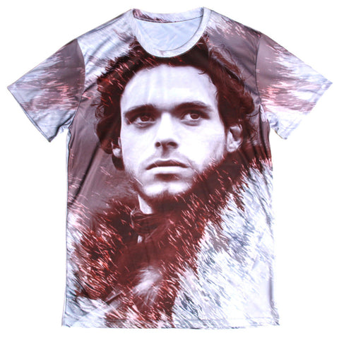 Game Of Thrones Rob Stark Face Allover Print Tshirt