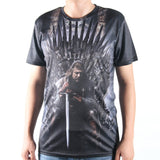 Game Of Thrones Ned Stark Iron Throne Allover 3D Print Tshirt - TshirtNow.net - 1