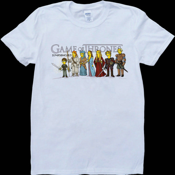 Game Of Thrones Cast As Simpsons Characters Tshirt - TshirtNow.net