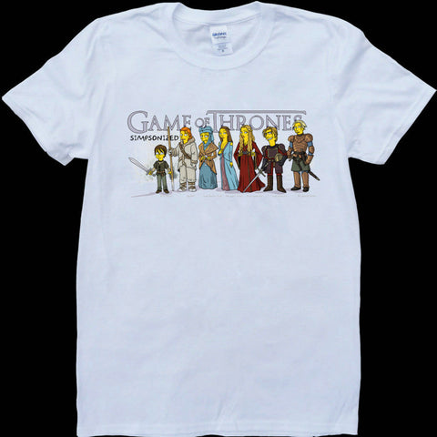 Game Of Thrones Cast As Simpsons Characters Tshirt