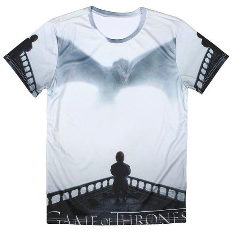 Game Of Thrones Tyrion Dragon Allover 3D Print Tshirt