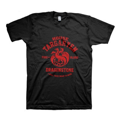 A Song of Ice and Fire Game of Thrones House Targaryen TShirt