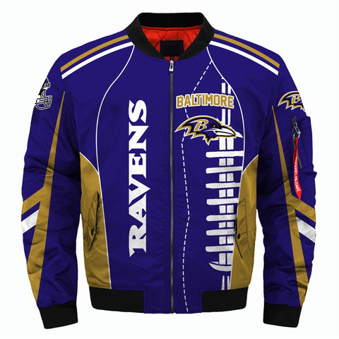 NFL Team Logo Men's Zippered Quilted Jacket