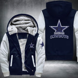 NFL DALLAS COWBOYS LOGO THICK FLEECE JACKET