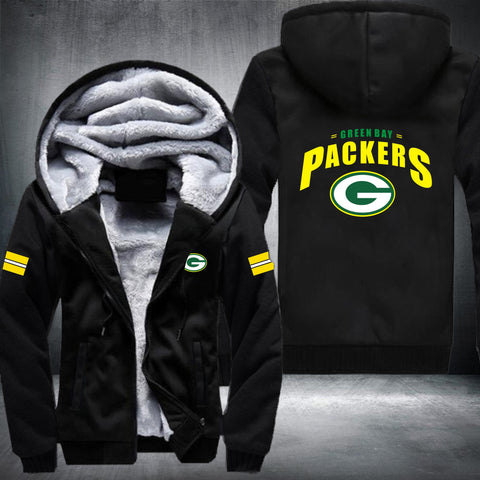NFL GREEN BAY PACKERS STRIPES THICK FLEECE JACKET