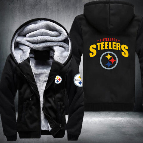 NFL PITTSBURGH STEELERS LOGO THICK FLEECE JACKET