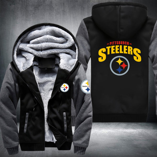premium selection ca8cd f68b0 NFL PITTSBURGH STEELERS LOGO THICK FLEECE JACKET