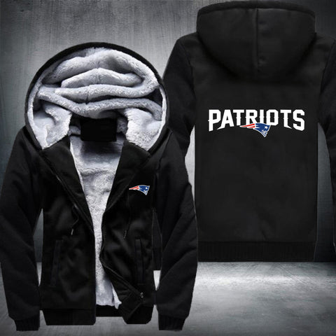 NFL NEW ENGLAND PATRIOTS LOGO THICK FLEECE JACKET 355063bb2