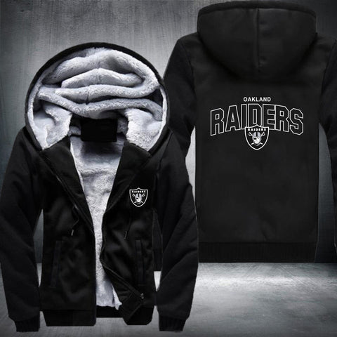 NFL OAKLAND RAIDERS LOGO THICK FLEECE JACKET