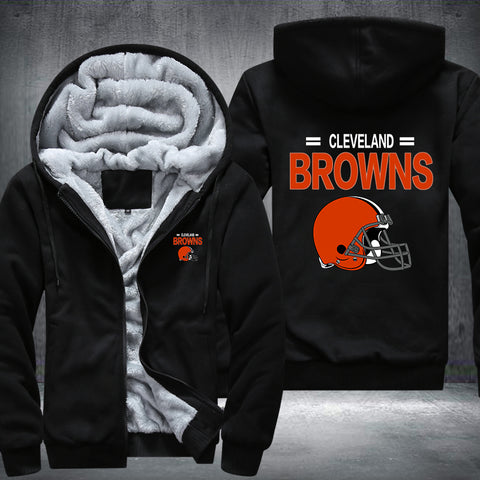 NFL CLEVELAND BROWNS THICK FLEECE JACKET