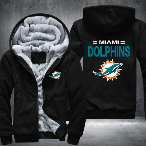 NFL MIAMI DOLPHINS THICK FLEECE JACKET